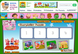 Noggin Shows: Story Time storyteller puzzler activity