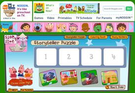 Noggin Shows: Story Time storyteller puzzler activity
