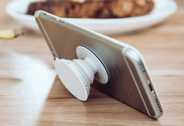For comfort: PopSockets: expanding stand and grip for smartphones