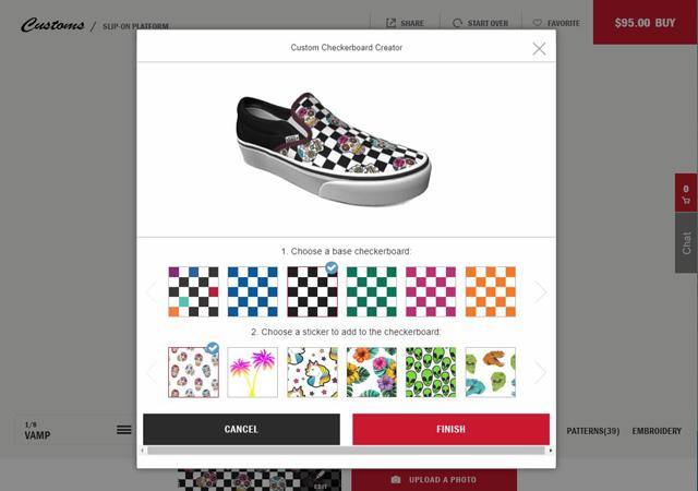 Vans custom shoe designer
