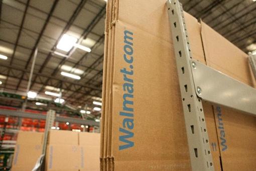 Walmart e-commerce shipping warehouse