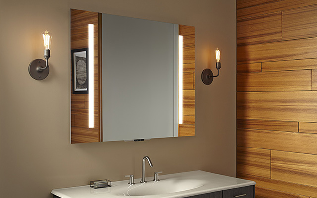 Verdana Voice Activated Lighted Mirror