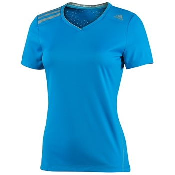 Climachill adidas women's tee in blue