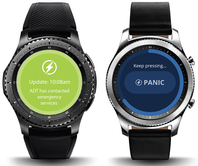 ADT Canopy Mobile Panic service on Samsung smartwatches