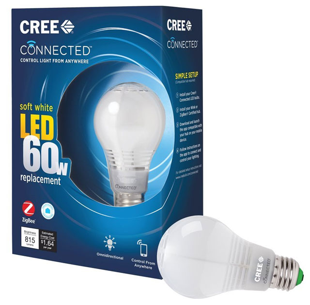 Cree Connected Soft White Dimmable LED Light Bulb