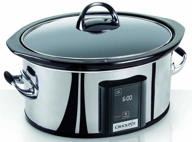Crock-Pot 6.5-Quart Countdown Programmable Touchscreen Slow Cooker