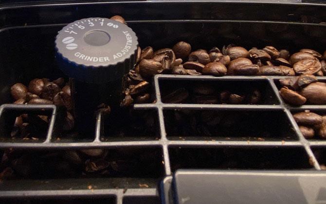 DeLonghi Dinamica grinder adjustment