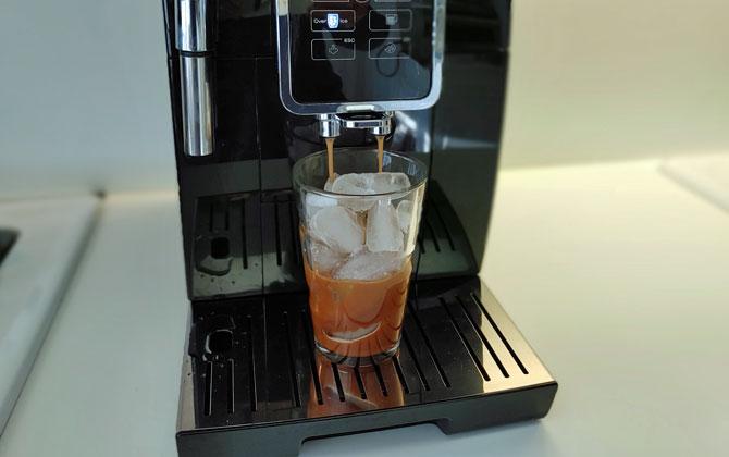 DeLonghi Dinamica ice coffee