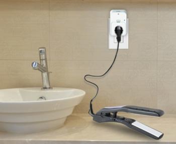 D-Link Wi-Fi Smart Plug in use in a bathroom