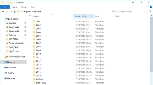 Organizing Dropbox Folders
