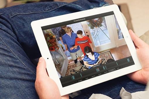 Dropcam app on tablet computer