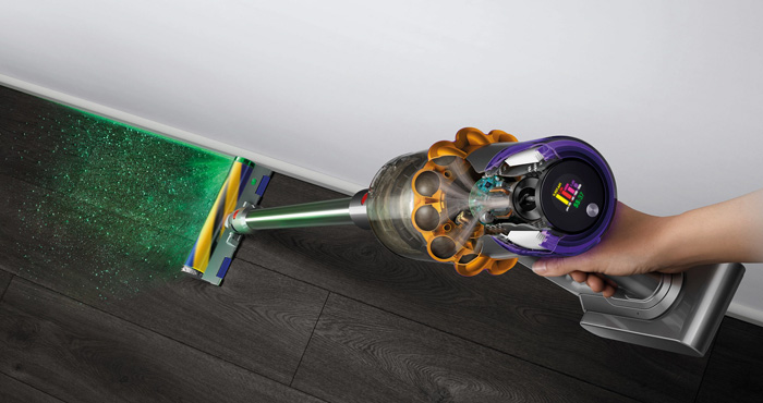 Dyson V15 Detect Reveals and Removes Hidden Dirt