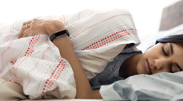 Fitbit Alta HR uses heart rate and movement for more precise sleep tracking.
