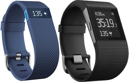 Fitbit Charge HR and Surge