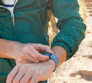 Man wearing the Fitbit Force