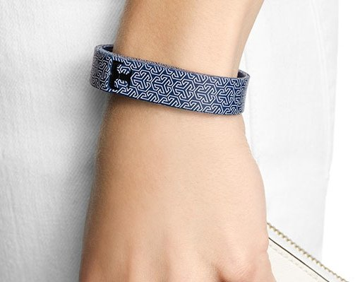 Tory Burch blue silicon wristband