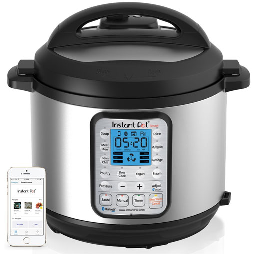 Pressure Cooker: Instant Pot Smart Bluetooth-Enabled Multifunctional Pressure Cooker