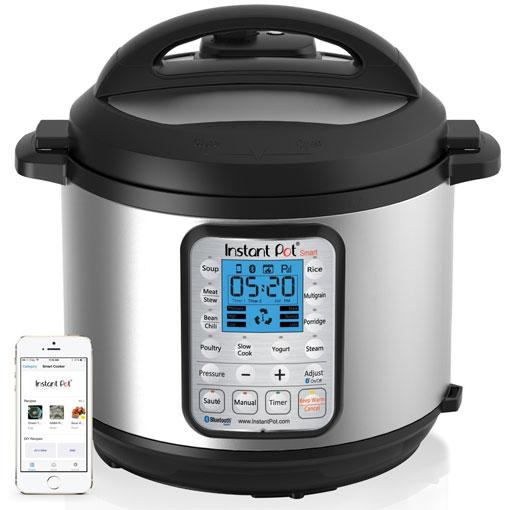 Pressure Cooker: Instant Pot Smart Bluetooth-Enabled Multifunctional Pressure Cooker