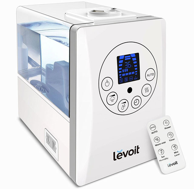 For dry air: Levoit LV600HH Cool/Warm Mist Humidifier