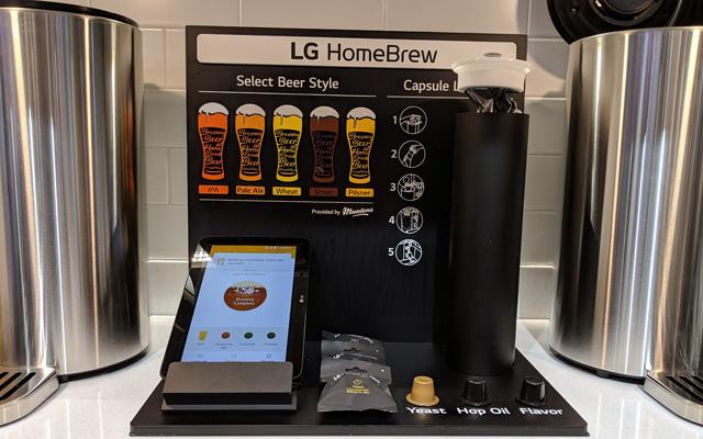 LG HomeBrew capsules