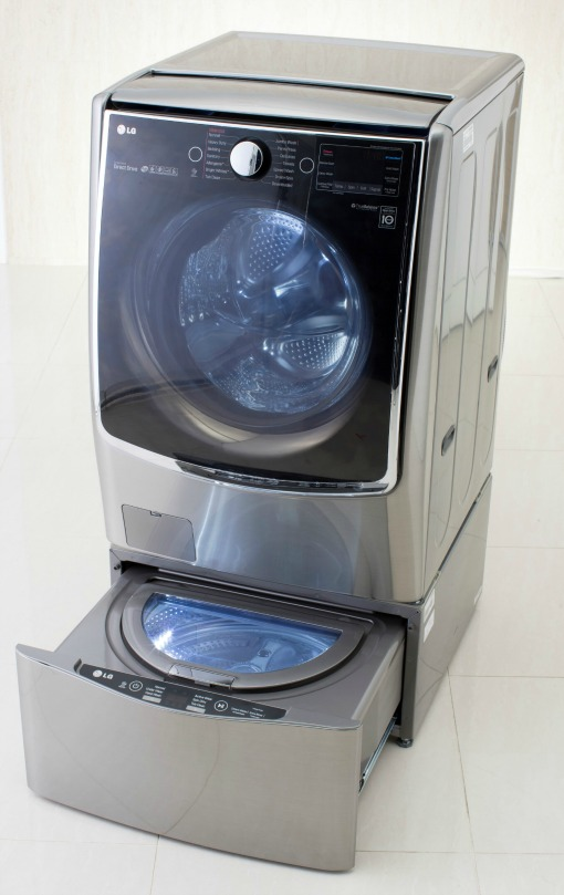 New lg washing machine system runs two loads at once techlicious - Interesting facts about washing machines ...