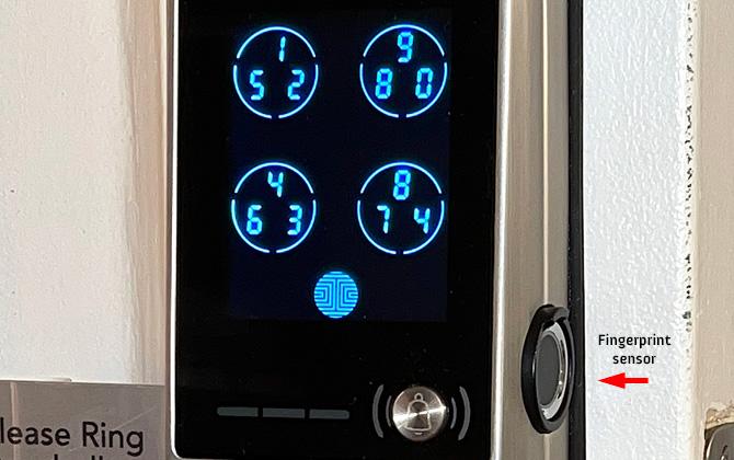 Lockly Vision exterior of door lock with fingerprint sensor identified