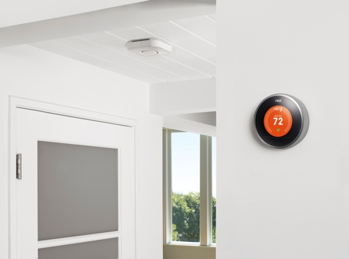 Nest Thermostat in a home