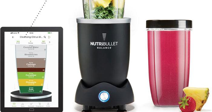 NutriBullet Balance Smart Blender Calculates Nutrition Information