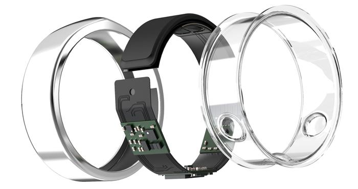 Oura ring sensors