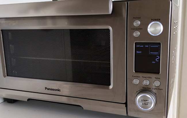Panasonic High Speed Toaster Oven controls