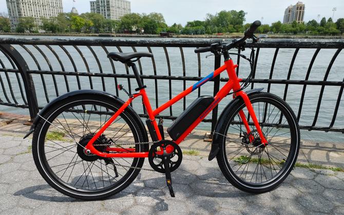 RadMission Bike on bike path next to the East River