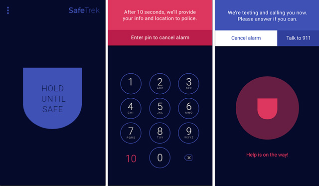 SafeTrek is a panic button app