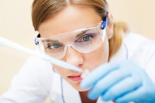 Scientist performing genetic testing