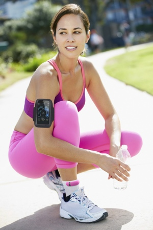 Sensoria Fitness Smart Socks on Woman