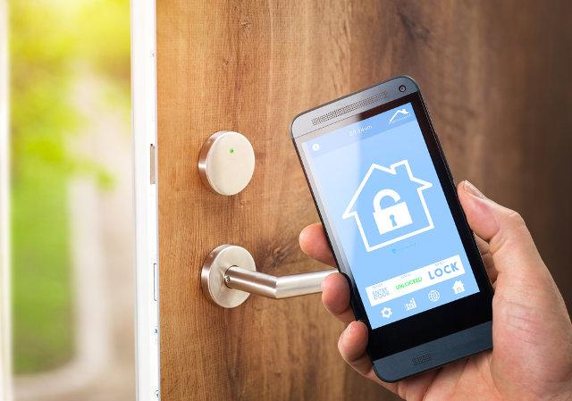 Smart lock with phone