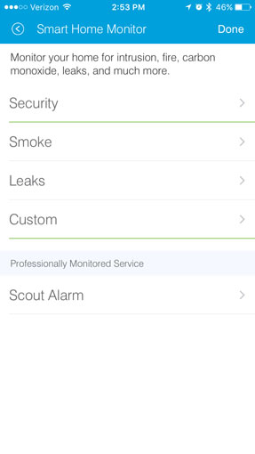 Scout Alarm integrates into the SmartThings app