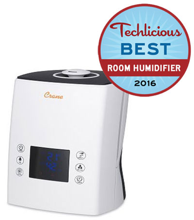 Techlicious Picks: The Best Room Humidifier: Crane Ultrasonic Cool/Warm Mist Humidifier EE-6902