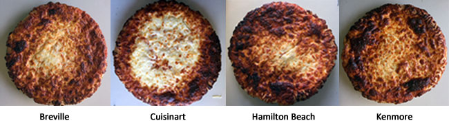 Toaster oven pizza comparison