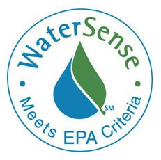 The WaterSense sticker shows how a product helps save water, energy and money