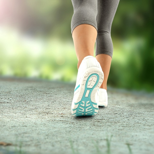 Woman in running shoes