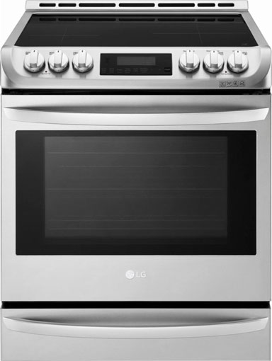 LG LSE4617ST slide-in induction range with ThinkQ technology