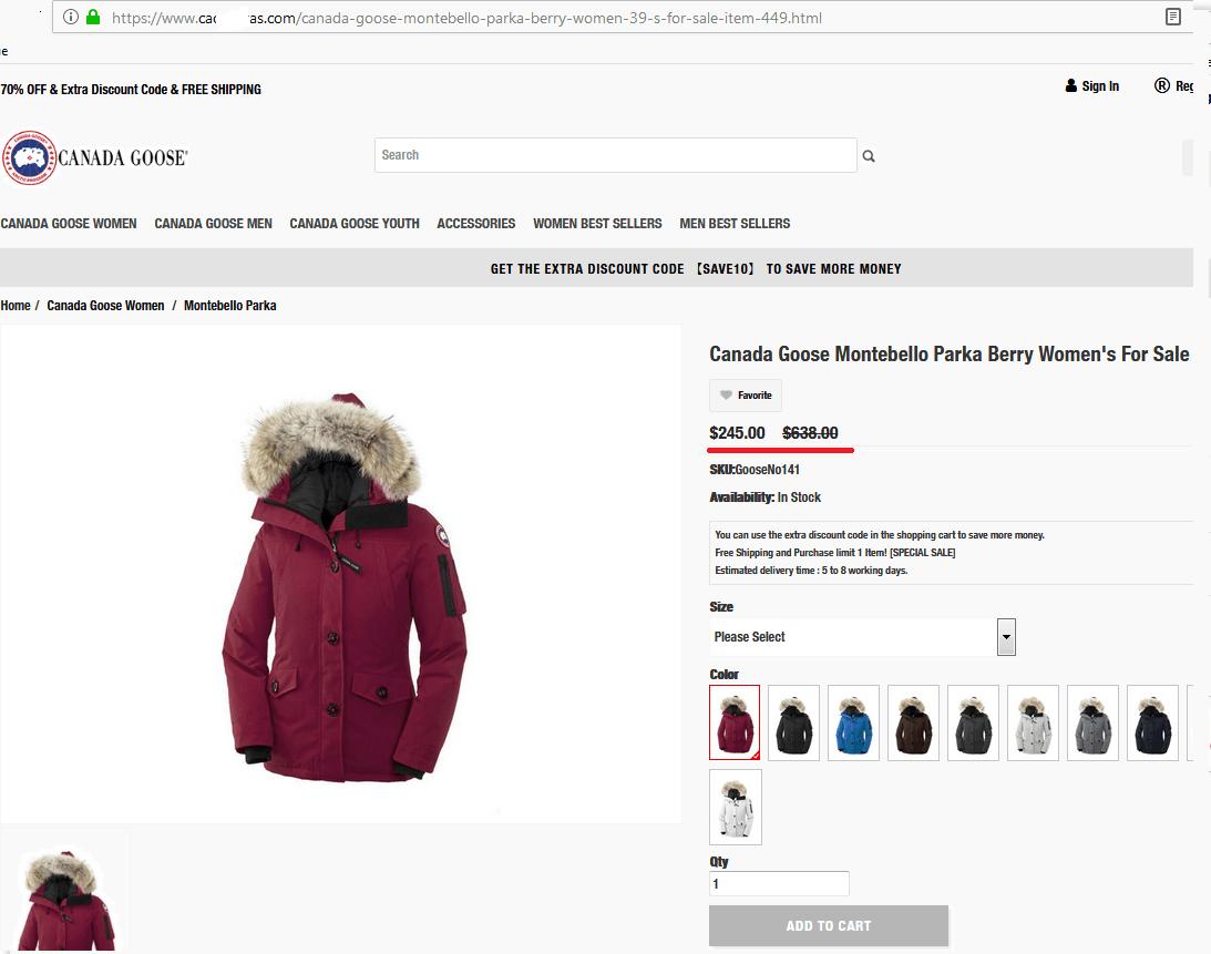 Fake discount