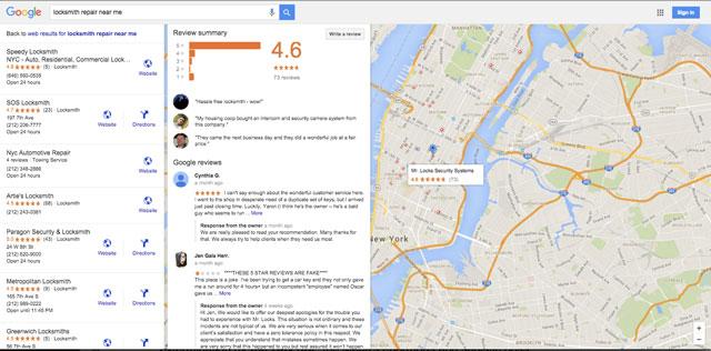 Google Search Reviews
