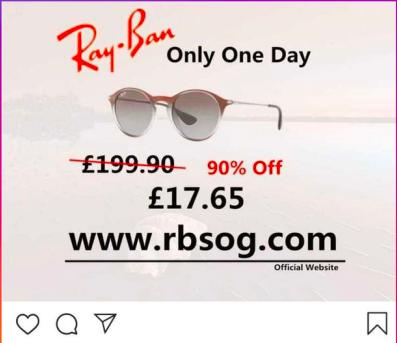 Fake Ray-Ban ad