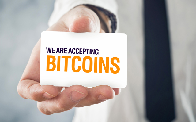 accepting bitcoins concept