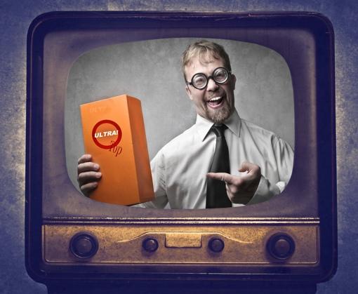 obnoxious advertisement on TV
