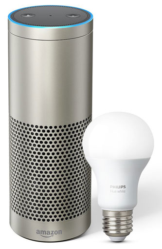 Amazon Echo Plus with Philips Hue bulb