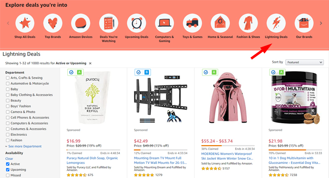 Amazon Epic Daily Deals