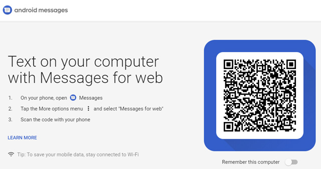 Android Messages set up