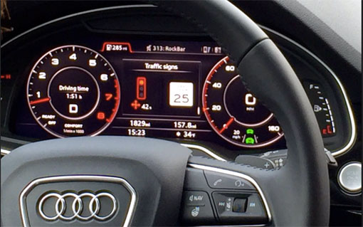 Audi traffic light sensor